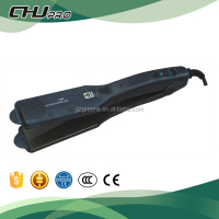 Professional titanium tourmaline hair straightener and hair curler with crystal
