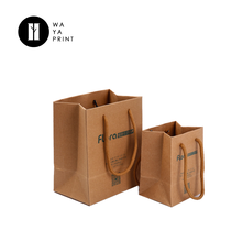 2018 China Stylish and easy carry brown kraft paper shopping tote bags