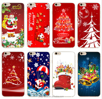 "New Christmas gift Phone case for iphone 6 4.7"" lovely Santa Claus Tree Snowman Painted red green Back Hard plastic Cover for 6s"