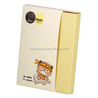 Photo album recycling material lovely cartoon bear waterproof plastic photo album for children
