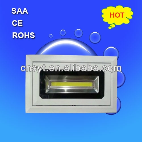 High CRI Fashion Design Cutout 80mm 100-240VAC ERP SAA led recessed downlights 9w