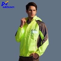 USB Rechargeable long sleeves jacket glowing in the dark to keep safe