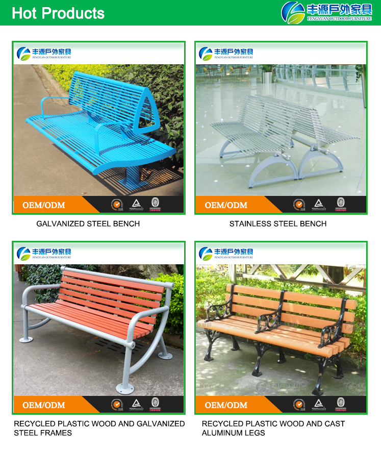 Factory Direct Sale Durable Public Bench Outdoor Bench Kits Coffee Shop Dining Room Tables And Chairs