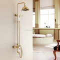 Luxury gold color bath&shower faucet set