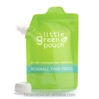 reusable food stand up spout pouch bag for liquid 500 ml and 1000ml