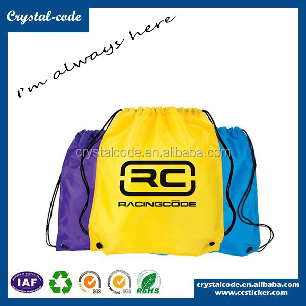 Personalized Excellent Quality Laminated Polyester Fabric Drawstring Bag