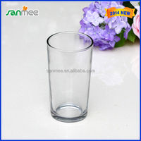 Wholesale Glassware Restaurant Crystal Clear Drinking Cup Glass Tumbler