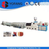 Automatic pvc pe corrugated pipe production plant