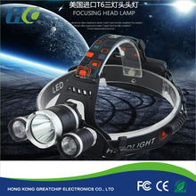 Headlamp CREEs XM-L T6 LED Headlight Adjustable Focus Super Power Head Lamp