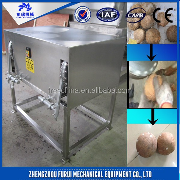 Durable CE coconut husk remover/cutting machine coconut shell