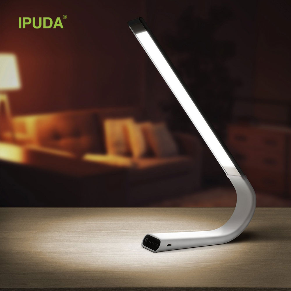 2017 smart gadget IPUDA led table reading lamp with 3 color 6 brightness level dimmable