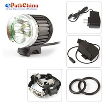 NEW Waterproof Bicycle LED Light 4 mode 2400 Lumen 3 x XML T6 LED Front Bicycle Bike Light Head Lamp & Headlight Headlamp