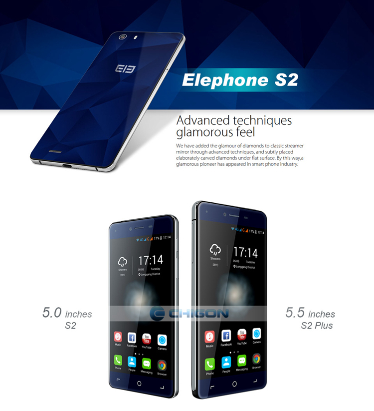 ELEPHONE S2 PLUS MTK6735 1.5GHz Quad Core 5.5 Inch HD Screen Android 5.0 4G LTE Smartphone