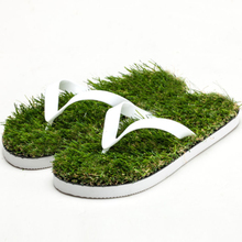 premium quality sedex factory artificial grass flip flops sandals beach slippers