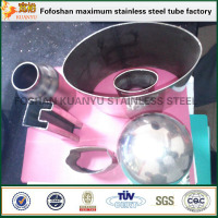Outdoor Construction Material Flat Oval Tube Stainless Steel Irregular Pipe