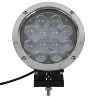 7 Inch 60W Round Flood Beam LED Driving Light Working Light Fish Eye 4D Lens for Off Road Vehicle Truck Pickup SUV 4wd Boat