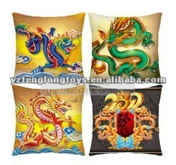 2012 new design cheap and nice plush dragon type pillow