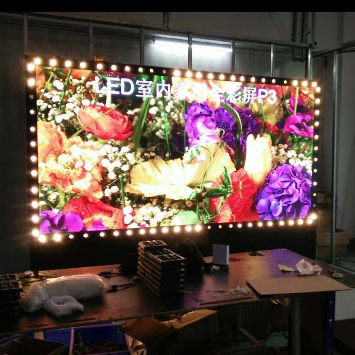 no waterproof indoor advertising small led display screen hq led video processor aluminum frame