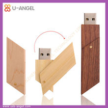 swivel Bamboo or Wooden usb driver 2gb by shenzhen factory outlet