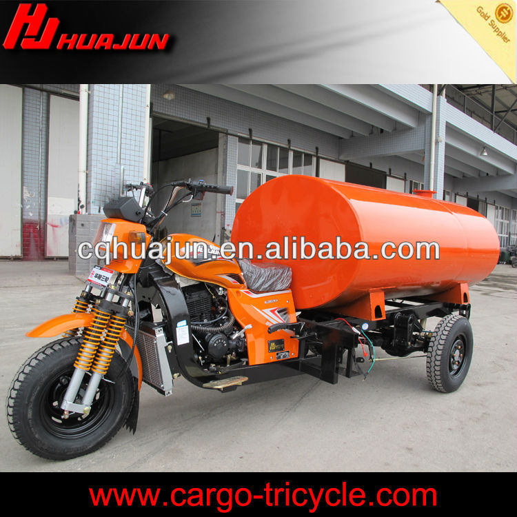 chinese gasoline powered tricycles with water tank
