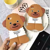 Poodle dog silicone design mobile phone case for iPhone 6 6s cover case