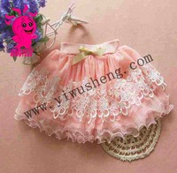 New arrival fashion hot girls lace short skirt with ribbon