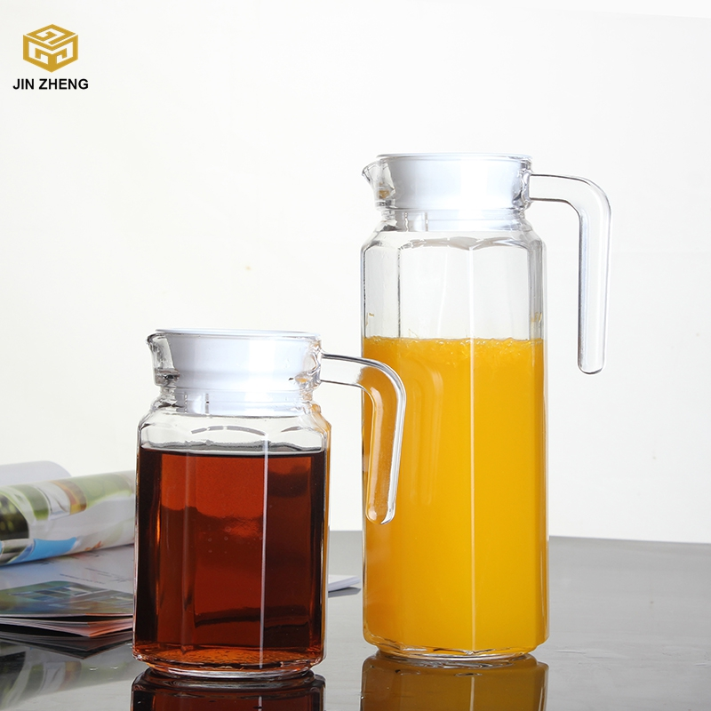 Lead Free Glass Pitcher With Lid and Spout