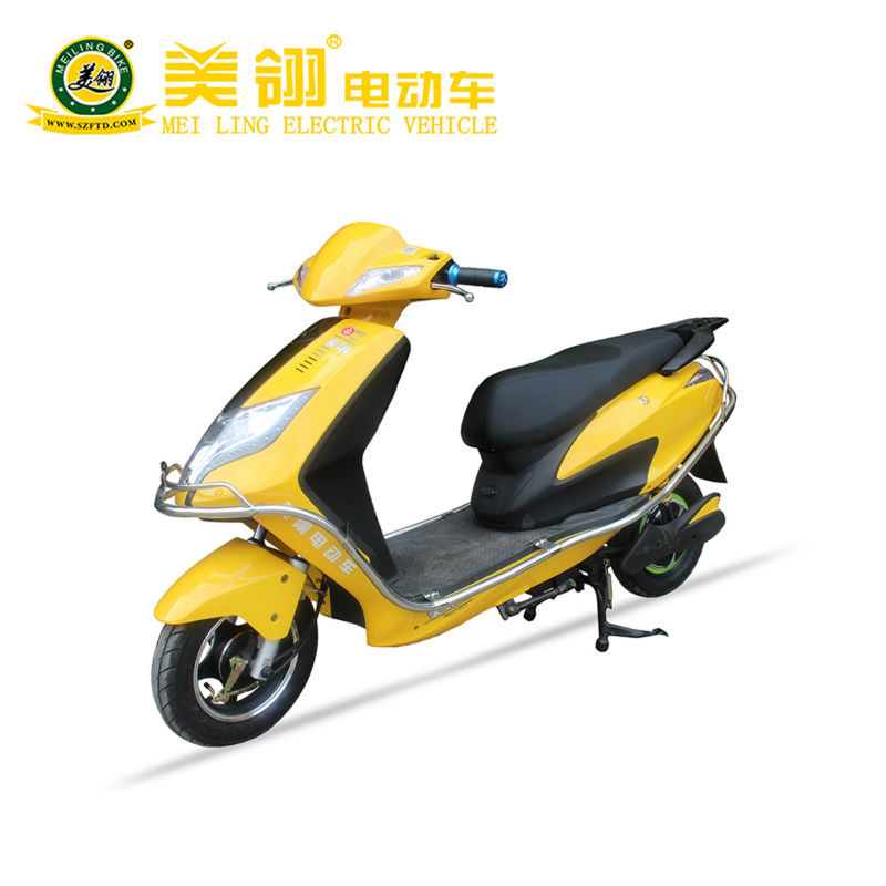 2013 new chopper hydraulic fork electric motorcycl with 800 w brushless hub motor.carry two rider