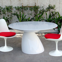 Modern Design Fiberglass Mushroom Dining Table