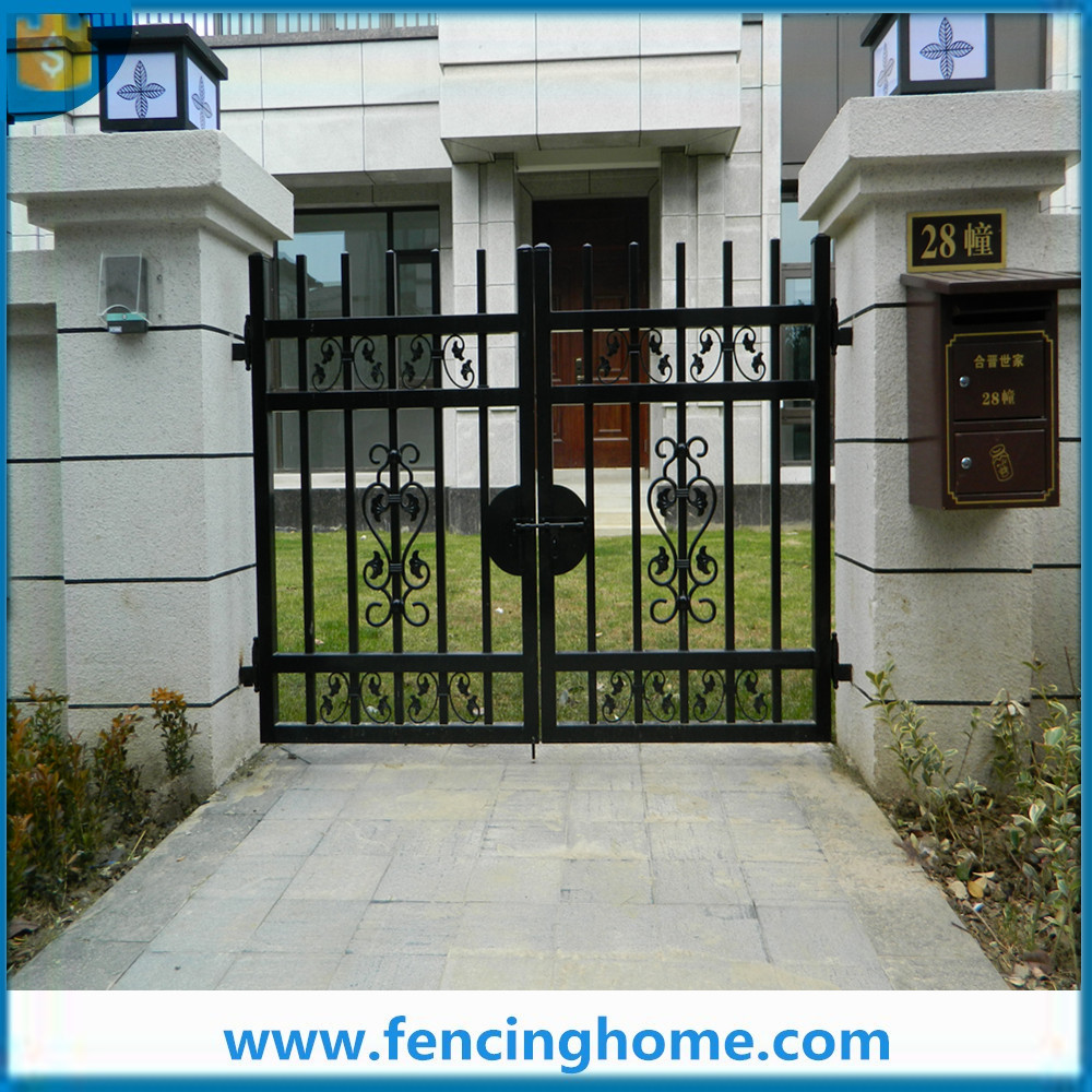 Security home depot fencing wrought iron main fence gate design