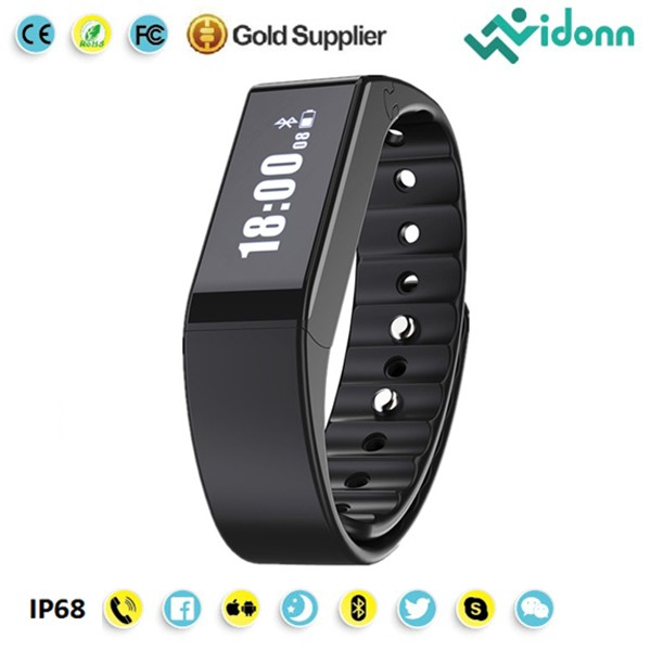 Vidonn manufacture IP68 bluetooth tracker silicone pedometer wrsitband X6S smart watch