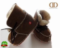softest sheepskin baby booties shoes