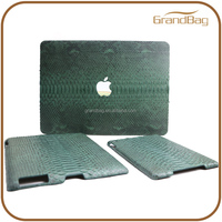for macbook 13'' case luxury python skin leather cover case for Ipad macbook Air 11""