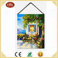 Spring Unframed vintage House Canvas Print,Painting for Living Room Bedroom Wall Decoration