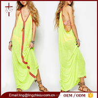 Plus size clothing relaxed fit maxi women casual dress for beach party