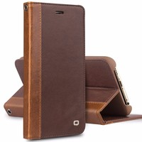 QIALINO Case For Apple Mobile Phone, Flip Wallet Leather Case Cover For iPhone