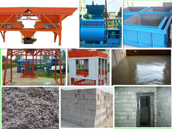 no-steamed foam concrete block plant