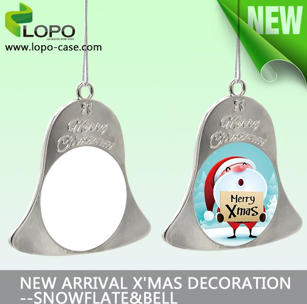 wholesale cheap metal sublimation christmas ornaments