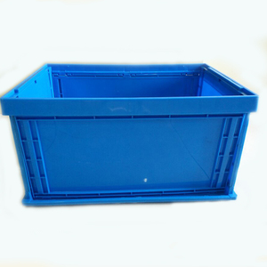 645x443x345 mm Handing foldable Plastic folding Box Bin Crate with Cover plastic bread crate