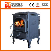 Wood fireplace with water heater design wood burning stove water jacket DHF717B