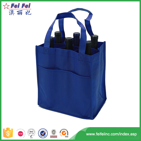 Reliable manufacturer control system 2018 custom cheap non-woven beer bottle bag