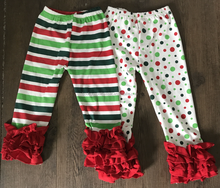 christmas ruffle leggings fall polka dot pants wholesale baby cotton leggings