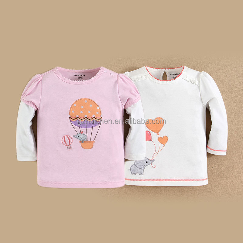 mom and bab 2015 baby clothes 100 cotton baby girl t shirts