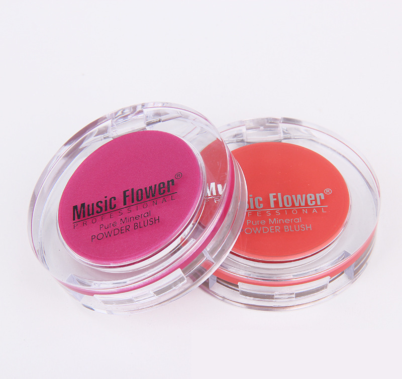 Music Flower Face Makeup Palette Matte Color Blusher 4 Colors Cheek Powder Blush Bronzer,guizhou