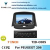 S100 Car Radio For Peugeot 206 with GPS A8 Chipset 3 zone POP 3G/wifi BT 20 dics playing