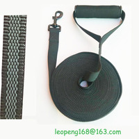 Customized cotton nylon 15 meters pet rubber non-slip long leash with nylon collar sales price