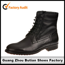 luxurious black italian lace up men genuine leather boots