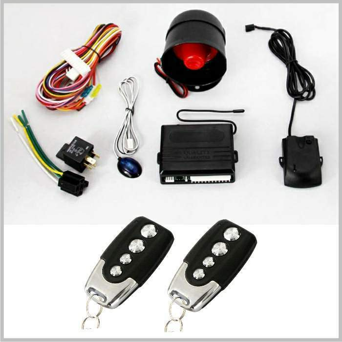Multiple function one way car alarm system with remote control