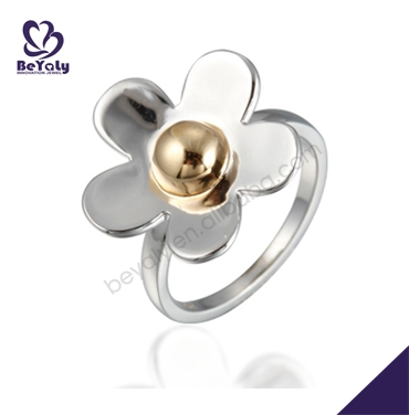 latest 925 sterling silver jewelry ring flower designs for girls plain silver ring