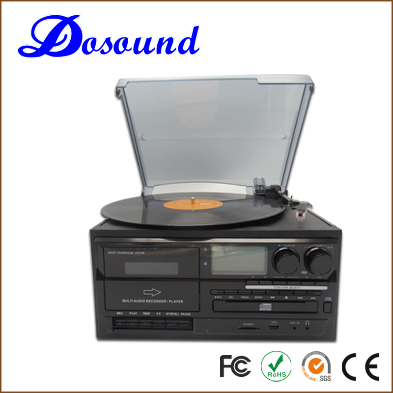 Vinyl Record hi-fi turntable Player with AM/FM, CD, USB, Recording